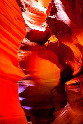 Red Canyon Walls Print by Az Jackson