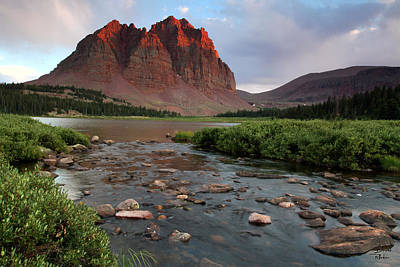 Water Photograph - Red Castle Sunset With Last Light Of The Day by Brett Pelletier