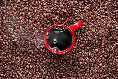 Sumatra Photograph - Red Coffee Cup by Steve Gadomski