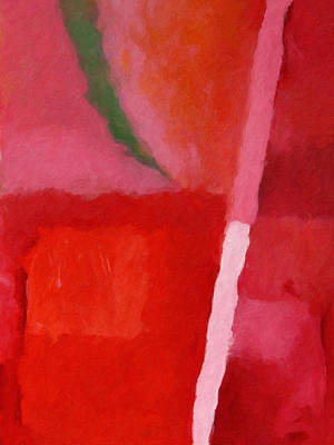 Red Abstract Painting - Red Colorchord by Lutz Baar