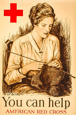 Red Cross Woman Print by David Letts