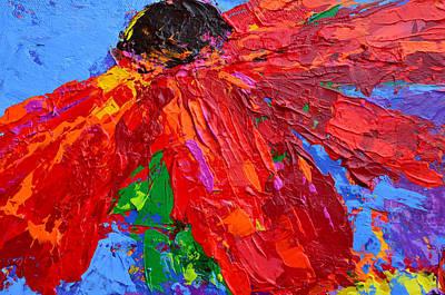 Vivid Colour Painting - Red Daisy by Patricia Awapara