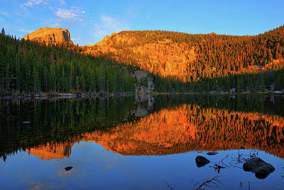 Red Dawn At Bear Lake Print by Greg Norrell