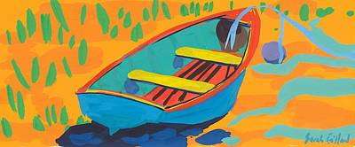 Red Deck Print by Sarah Gillard