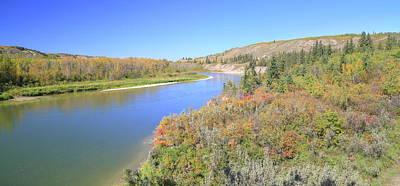 Red Deer River - Alberta Print by Jim Sauchyn