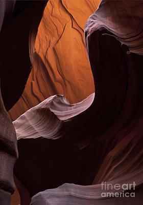 Red Desert Depth Print by Mike Dawson