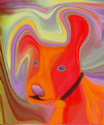 Red Dog Print by Ruth Palmer