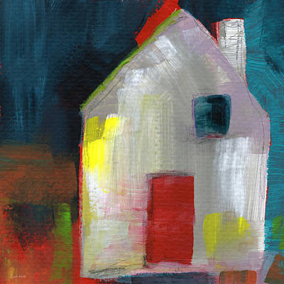 Modern Abstract Mixed Media - Red Door- Art By Linda Woods by Linda Woods