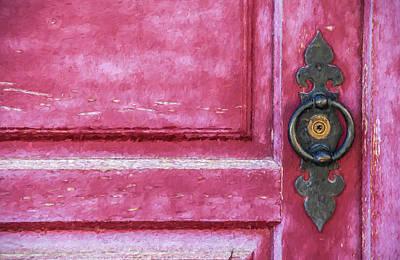 Red Door Print by David Letts