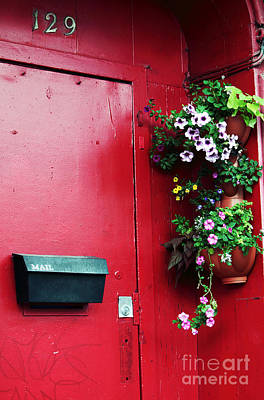 Old Montreal Photograph - Red Door In Montreal by John Rizzuto