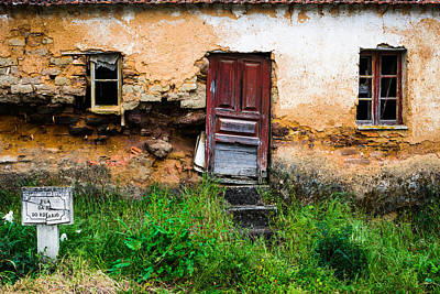 Red Door With No Number Original by Marco Oliveira