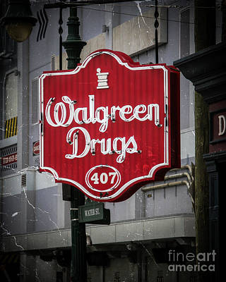 Red Drugs Neon Print by Perry Webster