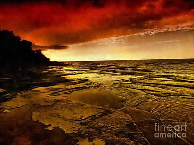 Photograph - Red Dusk by Andrea Kollo