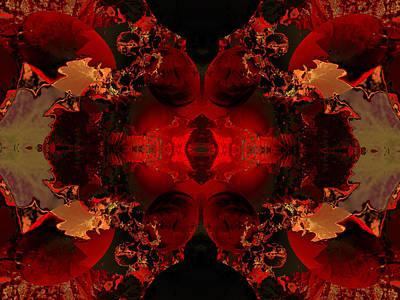 Algorithmic Digital Art - Red Embers by Claude McCoy