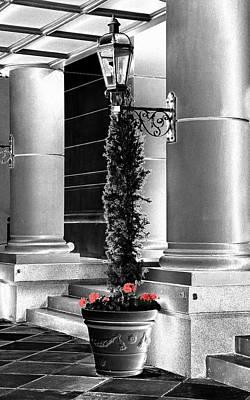 Huisken Digital Art - Red Flowers by Lyle  Huisken