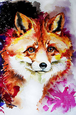 Contry Painting - Red Fox by Isabel Salvador