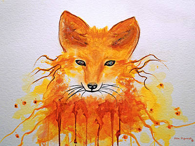 Red Fox Painting - Red Fox by Ken Figurski