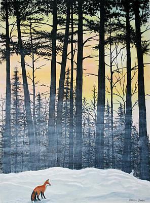 Red Fox Morning Hunt Original by Brenda Baker