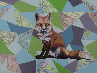 Red Fox Painting - Red Fox by Ramey Guerra