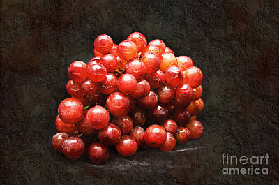 Grape Mixed Media - Red Grapes by Andee Design
