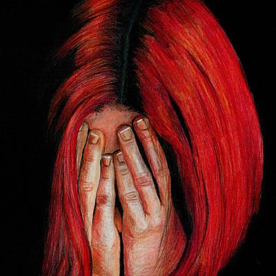 Red Haired Girl Original by Erika Farkas