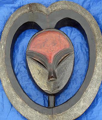 Photograph - Red Head African Art by Barbara McDevitt
