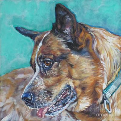 Red Heeler Australian Cattle Dog Print by Lee Ann Shepard