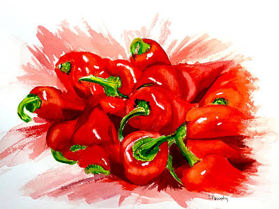 Red Hot Chili Peppers Original by Cindy Nowotny