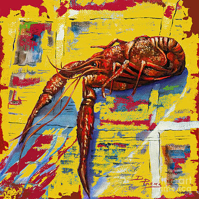 Crawfish Painting - Red Hot Crawfish by Dianne Parks