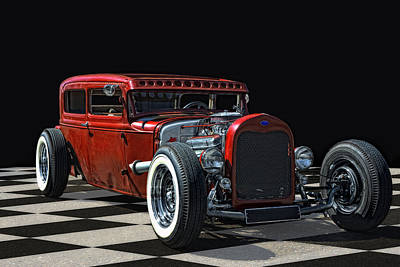 Modified Photograph - Red Hot Rod by Joachim G Pinkawa