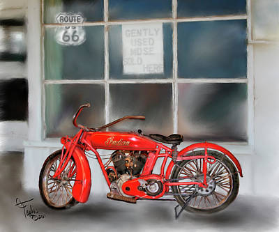 Red Hot Tail Gunner Print by Colleen Taylor