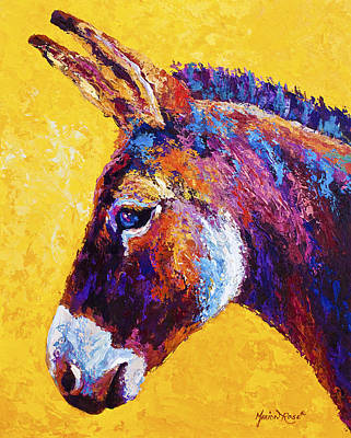 Mule Painting - Red Jenny by Marion Rose