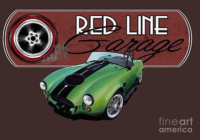 Cobra Mixed Media - Red Line Garage by Paul Kuras