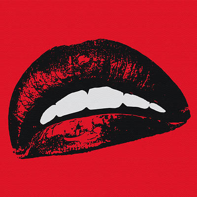 Bass Digital Art - Red Lips by Edouard Coleman