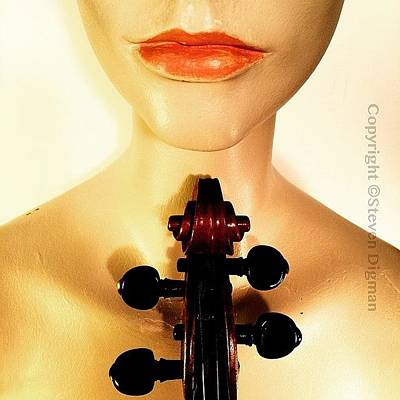 Music Photograph - Red Lips  by Steven  Digman