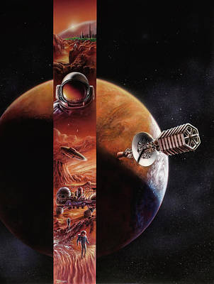 Red Mars Cover Painting Original by Don Dixon