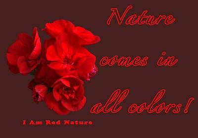 Red Nature Print by Terry Wallace