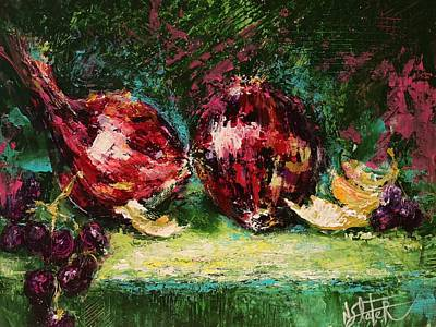 Onion Painting - Red Onions 2 by Nicole Slater