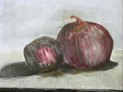 Red Onions Print by Charlotte Ranz