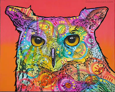 Painting - Red Owl by Dean Russo