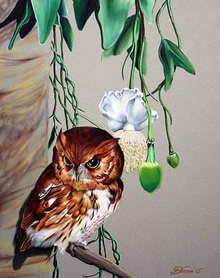 Red Owl Original by Virginia Simmons