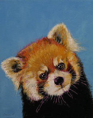 Impasto Oil Painting - Red Panda by Michael Creese