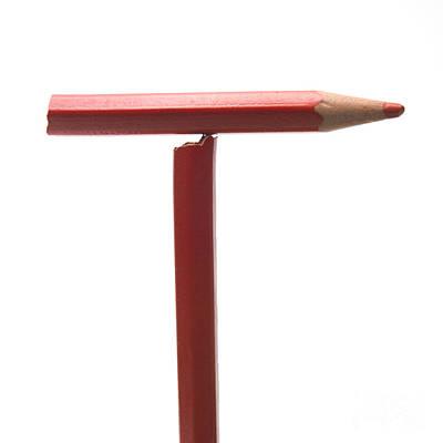 Repetition Photograph - Red Pencil by Bernard Jaubert