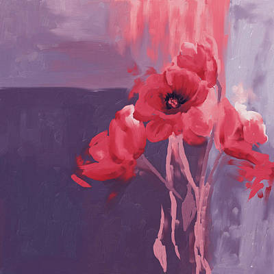 Red Poppies II Print by Mawra Tahreem