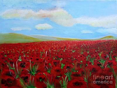 Red Poppies In Remembrance Original by Karen Jane Jones