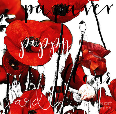 Rights Painting - Red Poppies by Mindy Sommers