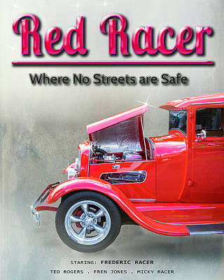 Book Title Digital Art - Red Racer Movie Poster by William Havle