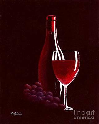 Reflections On Bottle Painting - Red Red Wine by Joe DeKleva