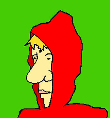 Hoodie Digital Art - Red Riding Cliff by Jera Sky