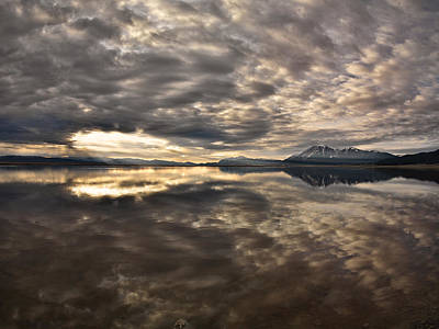 Red Rock Lake Sunrise Print by Leland D Howard